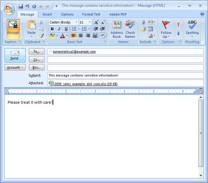 Sophos Outlook Add-in